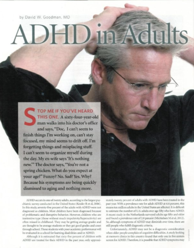 ADHD in adults article vivek agnohotri, MD